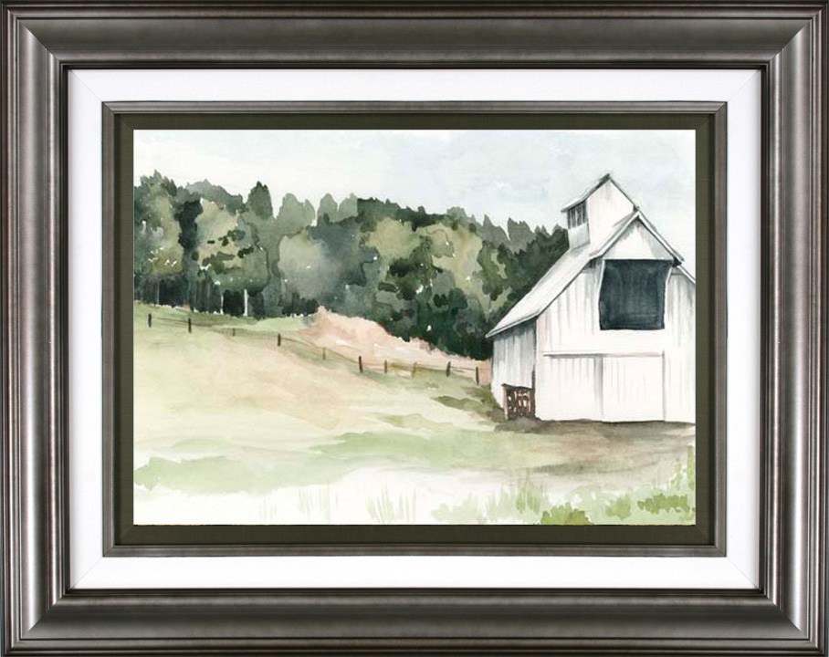 Watercolor Barn III