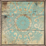 Turquoise Pattern Tile 4
