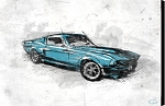 Muscle Car Blue