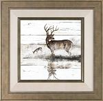 Rustic Misty Deer