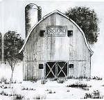 Black and White Barn I