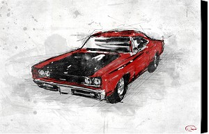 Muscle Car Red